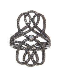 Adornia | Metallic Opal And Champagne Diamond Nina Ring | Lyst
