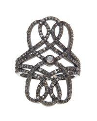 Adornia - Metallic Opal And Champagne Diamond Nina Ring - Lyst