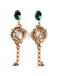 Dolce & Gabbana - Metallic Earrings Key - Lyst