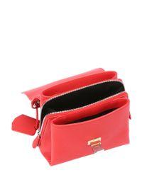 Balenciaga - Red Calfskin Mini 'le Dix Cartable' Convertible Shoulder Bag - Lyst