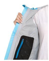 Mountain Hardwear - Stretch Capacitor Bounty Blue & Jewel Hooded Jacket - Lyst