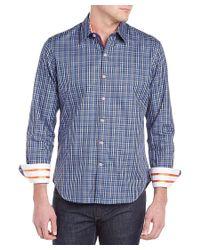 Robert Graham - Blue Davies Woven Shirt for Men - Lyst