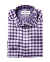 Robert Graham - Purple Sanpietro Tailored Fit Dress Shirt for Men - Lyst