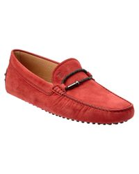 Tod's | Red For Ferrari Gommino Suede Driving Shoe for Men | Lyst