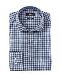 BOSS - Blue Boss Jason Slim Fit Dress Shirt for Men - Lyst