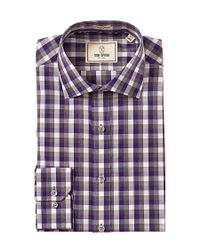 Todd Snyder - Purple Trim Fit Check Dress Shirt for Men - Lyst