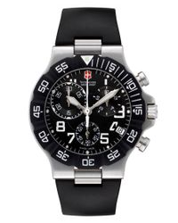 Victorinox | Black Classic Chronograph Leather Watch for Men | Lyst