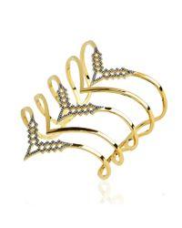 Noir Jewelry - Metallic Glacier Peak Cuff Bracelet Turq/gold Size Os - Lyst