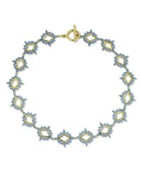Noir Jewelry - Blue Northern Lights Choker Necklace Turq/gold Size Os - Lyst