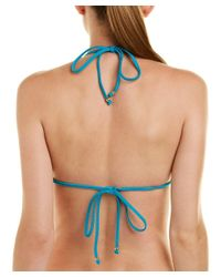 MILLY - Blue Cabana Positano Bikini Top - Lyst