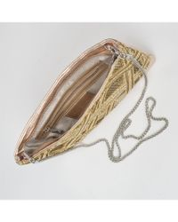 Waterlily LA - Metallic Delia Clutch - Lyst