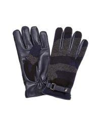 Valentino - Blue Rockstud Leather & Cashmere Gloves for Men - Lyst
