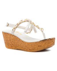 Callisto - White Women's Tamtam Sandals - Lyst