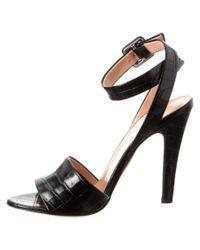 Jill Stuart - Black Clementine Leather Sandal - Lyst