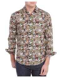 Robert Graham | Blue Bamboo Orchid Long-sleeve Sport Shirt for Men | Lyst