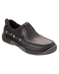 Sperry Top-Sider - Black Men's Seakite Leather Sport Moccasin for Men - Lyst