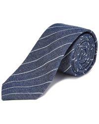 Original Penguin - Blue Rex Striped Tie for Men - Lyst