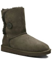 UGG | Brown Bailey Button Twinface Sheepskin Boot | Lyst