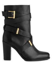 L.K.Bennett | Black L.k. Bennett Leona Leather Ankle Boot | Lyst