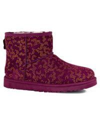 UGG | Purple Classic Mini Metallic Conifer Twinface Sheepskin Boot | Lyst