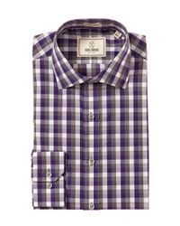 Todd Snyder | Purple Trim Fit Check Dress Shirt for Men | Lyst