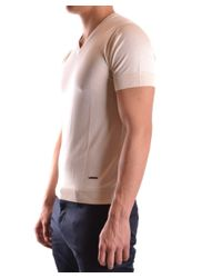 CoSTUME NATIONAL - Brown Men's Beige Silk Jumper for Men - Lyst
