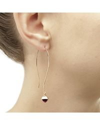 Jewelista - Yellow Pyramid Cabochon Citrine Long Wire Earrings - Lyst