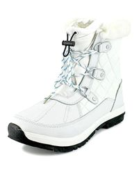 BEARPAW - White Bethany Women Round Toe Leather Winter Boot - Lyst