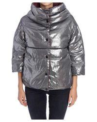 Trussardi - Metallic Women's Silver Polyester Jacket - Lyst