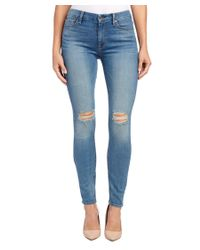7 For All Mankind - Blue 7 For All Mankind The High-waist Skinny Sloan Heritage 2 Super Skinny Leg - Lyst