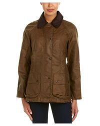 Barbour | Brown Beadnell Wax Jacket | Lyst