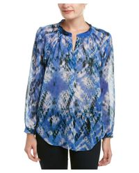 Olivaceous - Blue Printed Blouse - Lyst