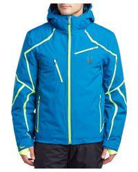 Spyder | Blue Esper Jacket for Men | Lyst