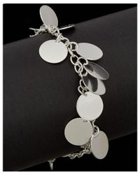Argento Vivo - Black Silver Disc Charm Bracelet - Lyst