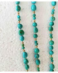 Blue Candy Jewelry - Metallic Turquoise Gold Knotted Necklace - Lyst