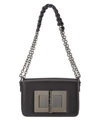 Tom Ford | Black Natalia Medium Pleated Shoulder Bag | Lyst