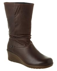 Keen | Brown Women's Boulevard Kate Slouch Leather Boot | Lyst
