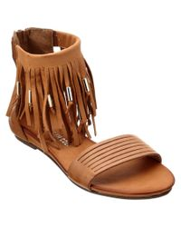 Kenneth Cole | Brown New York Ellie Leather Sandal | Lyst