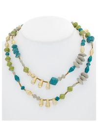31 Bits - Blue Hand-made Recycled Paper Bead 40in Necklace - Lyst