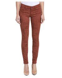 Rich & Skinny | Multicolor Marilyn Rust Crocodile Print Skinny Leg | Lyst