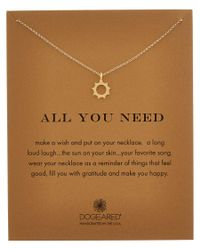 Dogeared - Multicolor All You Need 14k Over Silver Sunny Necklace - Lyst