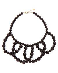 Trina Turk | Black 'legendary Summer' Plated Enamel Necklace | Lyst