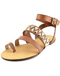 Steve Madden   Brown Curlyy Open Toe Leather Sandals   Lyst