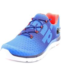 Reebok | Blue Zpump Fusion Round Toe Synthetic Running Shoe for Men | Lyst