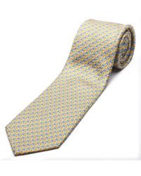 Ermenegildo Zegna | Multicolor Men Slim Silk Neck Tie Z6a00 1l8 A Yellow Blue for Men | Lyst