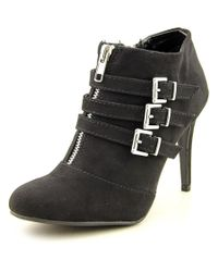 Report | Black Dominika Women Round Toe Synthetic Ankle Boot | Lyst