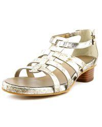 Vaneli | Metallic Kezia Women Open Toe Leather Silver Sandals | Lyst