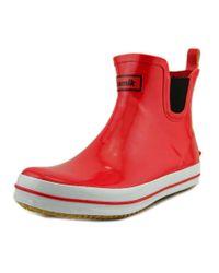Kamik | Sharonlo Women Round Toe Synthetic Red Rain Boot | Lyst