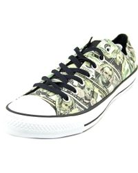 Converse | Chuck Taylor Ox Men Round Toe Canvas Green Sneakers for Men | Lyst