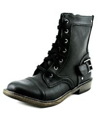 Material Girl - Black Kurt Round Toe Synthetic Mid Calf Boot - Lyst